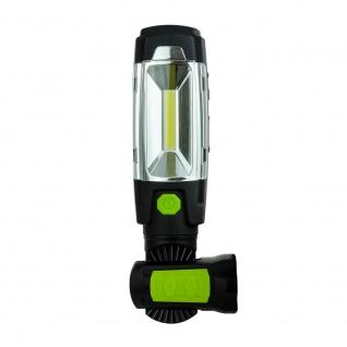 LED Akku-Handleuchte 3W 360° Drehbar mit USB Powerbank Arbeitsleuchte Arbeitslampe