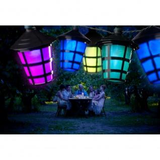 LED Lampion Lichterkette 20 bunten Laternen 20 Kaltweiße Dioden 24V Außentrafo