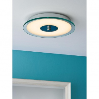 Paulmann Deckenleuchte Pollux IP44 LED 14W 320mm Chrom Weiß Klar Acryl 70467