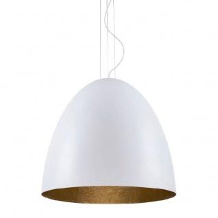 Hängeleuchte Egg L Ø 55cm Weiß, Gold
