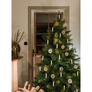 LED Baumbeleuchtung Topbirnen mit Timer 20 Warmweiße Dioden batteriebetrieben für Innen