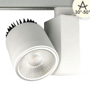 3-Phasen Power-LED Strahler 4100lm 35W 3000K warm Weiß
