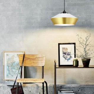 s.LUCE LED Hängelampe SkaDa Ø 40cm in Weiss, Gold Esstischleuchte Esszimmerlampe - Vorschau 5