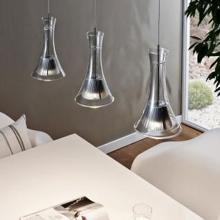 Licht-Trend LED-Hängeleuchte 3-flammig Glas silber Hängelampe