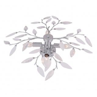 Vida Deckenleuchte Ø60cm im Blatt-Dekor-Design Deckenlampe