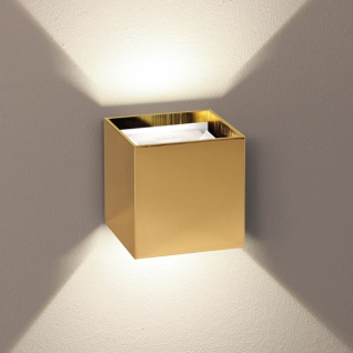 s.LUCE pro LED Wandlampe Ixa mit verstellbaren Winkel Goldfarben Wandlampe Flurlampe