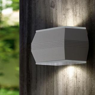 Eglo 93485 Norika 1 LED Aussen-Wandleuchte 4-flammig Silber Weiß Klar