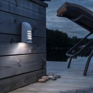 Konstsmide 7694-250 Prato Batterie LED Wandaufbauleuchte mit Bewegungsmelder 12V Weiß