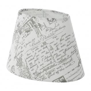 Eglo 49965 1+1 Vintage Lampenschirm 25 x 160cm bedruckt Grau Weiß