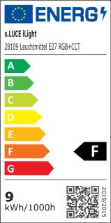 s.LUCE iLight E27 LED-Leuchtmittel 9W RGB+CCT LED-Lampe Farbwechsel & Dual White - Vorschau 3