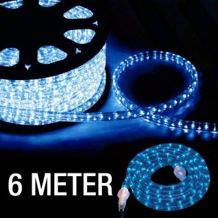 LeuchtenDirekt 86020-56 Deko LED-Lichtschlauch ELVIS 6m blau Dekolampe Aussen