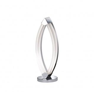 Wofi Vannes LED Tischleuchte Chrom Tischlampe