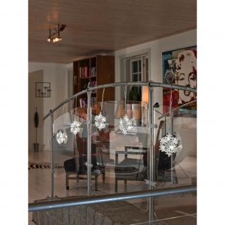 LED Acryl Schneeflocken Lichtervorhang 5er-Set 30 Kaltweiße Dioden 24V Innentrafo