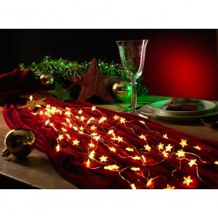 LED Sternenlametta 10 Stränge mit 20 Dioden 200 Warmweiße Dioden 12V Innentrafo kupferfarbener Draht