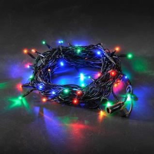 Konstsmide 4650-507 LED System Erweiterung Lichterkette 50 bunte Dioden für Aussenbereich schwarzes Soft-Kabel