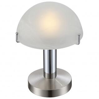 Globo 21934 Otti Tischleuchte Nickel-Matt Chrom E14 LED