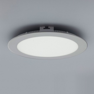 Licht-Design 30614 Einbau LED-Panel 1440lm Dimmbar Ø 22cm Neutral Silber