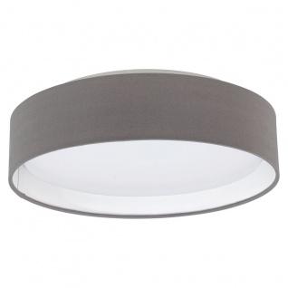 Eglo 31593 Pasteri Deckenleuchte Kunststoff Stahl Weiß Textil anthrazit-braun