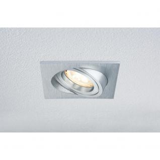 Paulmann Premium EBL Set Drilled Alu eckig schwb. LED 3x4W 230V GU10 51mm Alu gebürstet / 2