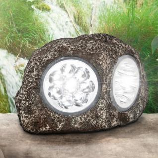LED Stein Solarleuchte Dunkelgrau Solar Gartenlampe Gartenleuchte