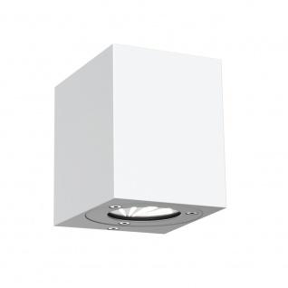 LICHT-TREND Baleno Quadi / LED Wand-Aussenleuchte Up&Down Weiss / Wandlampe - Vorschau 3