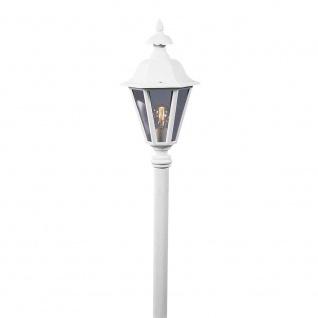 Konstsmide 478-250 Pallas Leuchtenkopf für Mastleuchte Weiß rauchfarbenes Acrylglas