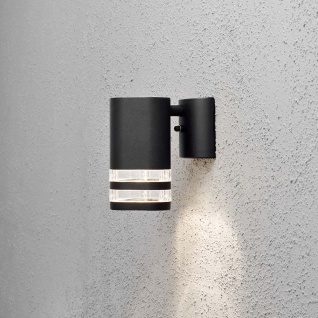 Konstsmide 7515-750 Modena Aussen-Wandleuchte Schwarz klares Acrylglas Reflektor