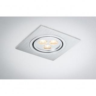 Paulmann Premium EBL Aria eckig schwb. LED 1x3W 350mA 92x92mm Alu geb. Chr. matt - Vorschau 4