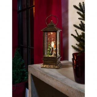LED Schneelaterne mit Weihnachtsmann wassergefüllt 1 Warmweiße Diode batteriebetrieben für Innen