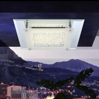 LED Deckenleuchte 28 x 28cm mit Spiegelrand 1010lm Badlampe Badleuchte