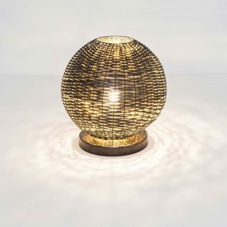 Holländer 297 1202 Tischleuchte Buffone Klein Eisengeflecht Schwarz-Gold