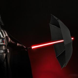 Lichtschwert LED Regenschirm 7 Farben Ø 108cm schwarz Laserschwert RGB