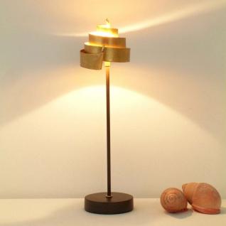 Holländer 300 K 12124 Tischleuchte Piccola Banderole Eisen Braun-Schwarz-Gold