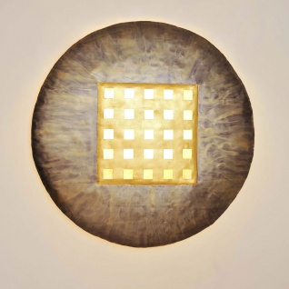 Holländer 466 K 1317 Wandleuchte 4-flammig Disque Extra Large Bronzo Metall-Capiz Muschel Gold-B