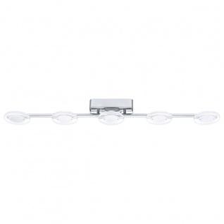 Eglo 94161 Cartama LED Deckenleuchte 5 x 45 W Stahl Chrom Kunststoff klar satiniert