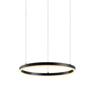 s.LUCE LED-Hängeleuchte Ring M Ø 60cm Schwarz Design Hängelampe Ringleuchte