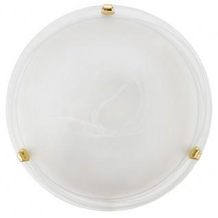 Eglo 7185 Salome Wand- & Deckenleuchte Ø 30cm Weiß Messing