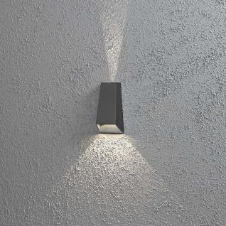 Konstsmide 7911-370 Imola LED Aussen-Wandleuchte mit doppeltem Lichtkegel Anthrazit klares Acrylglas