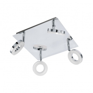 Eglo 94763 Gonaro LED Spot 4 x 38 W Stahl Chrom Kunststoff Weiss