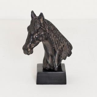 Holländer 320 3502 Pferdekopf Purosangue Aluminium Antik-Schwarz - Vorschau 1