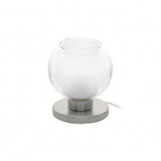 Eglo 95782 Karlo 1 Tischlampe Nickel-Matt Klar Weiß