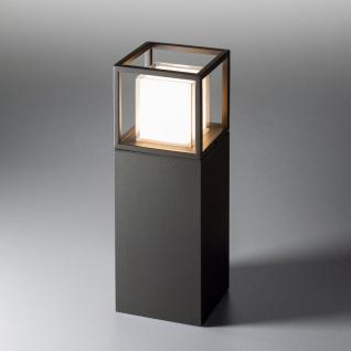 s.LUCE pro Cube LED Sockelleuchte 30cm Poller 10W LED Standleuchte Sockellampe