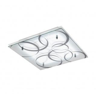 Eglo 95529 Concabella LED Glas Deckenlampe 38 x 38cm 1850lm Weiß Grau