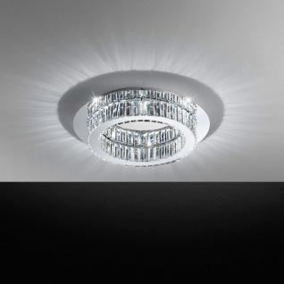 Corliano Kristall LED Deckenleuchte Chrom 20W Deckenlampe