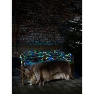 LED Mini Lichterschlauch 20m 260 bunten Dioden 4.5V Außentrafo