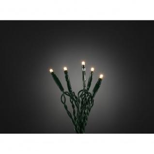 Konstsmide 6352-120 Micro LED Lichterkette 35 warmweisse Dioden 24V Innentrafo dunkelgrünes Kabel