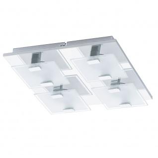 Eglo 93314 Vicaro LED Wand- & Deckenleuchte 4-flammig Weiß Klar Chrom