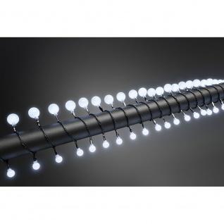 LED Globelichterkette kleine & große runde Dioden 80 Kaltweiße Dioden 24V Außentrafo