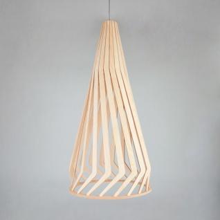 Licht-Trend Woody Holz Pendelleuchte Ø 34cm Buche Hängelampe Hängeleuchte