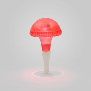Assisi Pilz Solar LED Leuchte Rot Solar Gartenlampe Gartenleuchte - Vorschau 3
